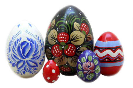 Russian Easter Eggs 5pc./4