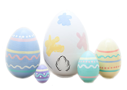 Easter Bunny Nesting Egg 5pc./4