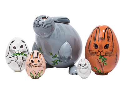 Rabbit Nesting Egg 5pc./5