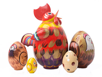 Rooster Nesting Egg 5pc./5