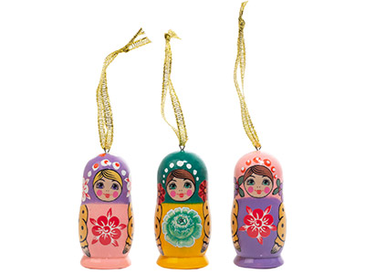 Matryoshka Mini Realistic Ornament 2