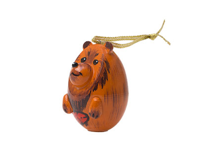 Brown Bear Ornament 2