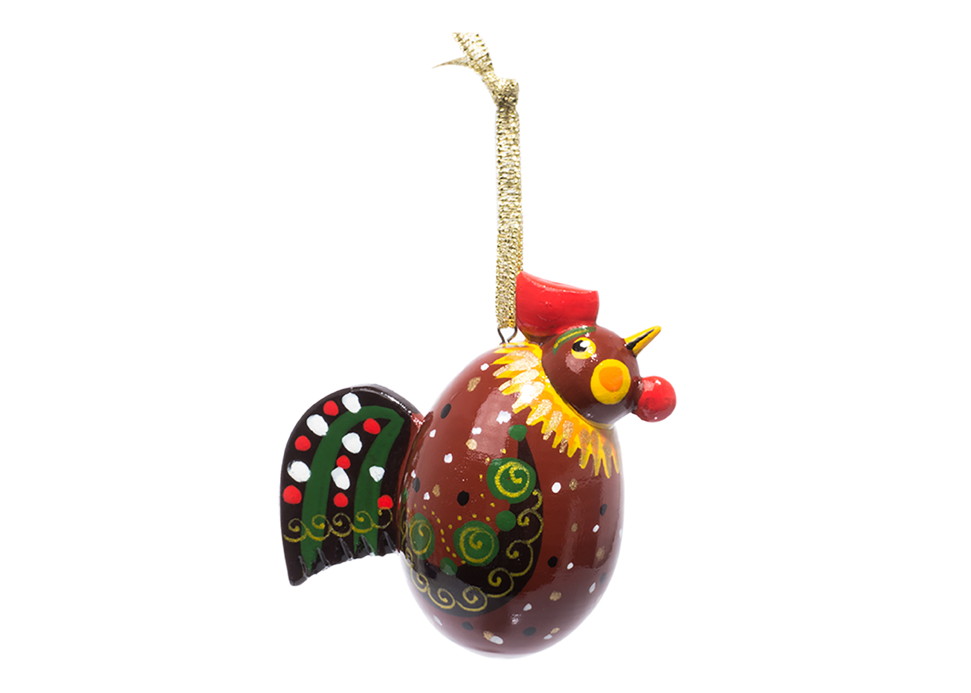 Rooster Christmas Ornament at GoldenCockerel.com
