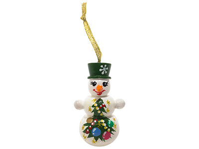 Snow Man with Hat Ornament 3