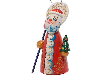 Folksy Father Frost Ornament 4