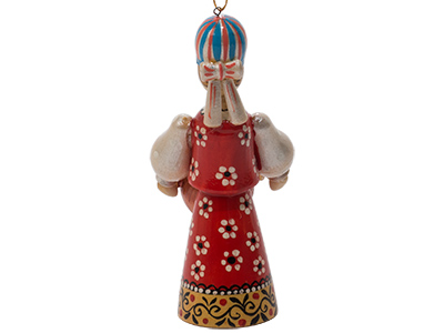 Russian Folk Samovar Lady Ornament 4.25