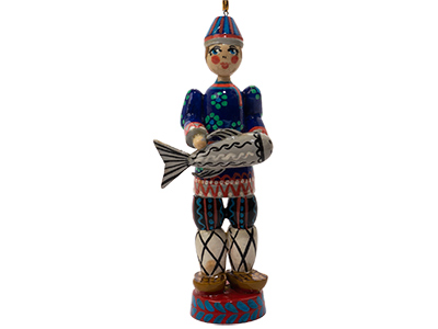 Russian Folk Fisherman Ornament 5