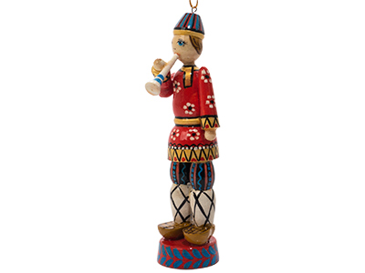 Russian Folk Rozhok Player Ornament 5