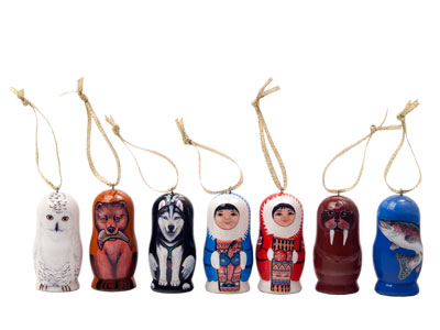 Alaskan Ornaments Set of 7
