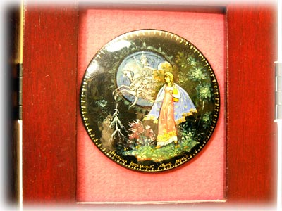 Russian Fairy Tale Brooches (in triptych frame) - Set of 9