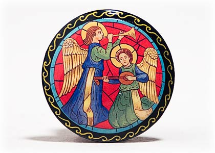Angel Musicians Brooch 2