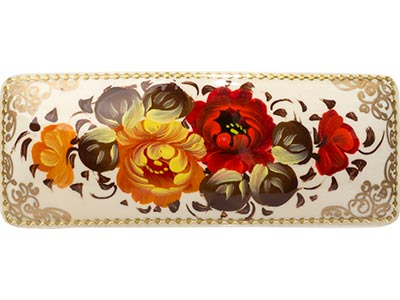 Russian Floral Bar Barrette
