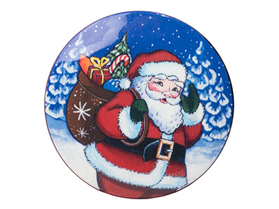 Santa on the Way Brooch 2