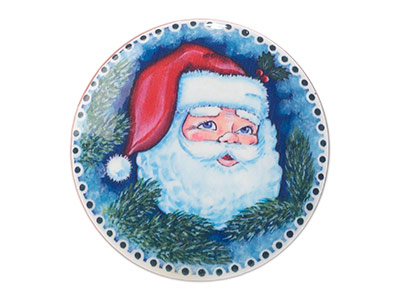 Holly Jolly Santa Brooch 2