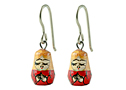 Tiny Handmade Angel Matryoshka Earrings can be a guardian angel for you