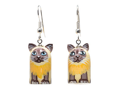Realistic Cat Novelty Earrings .5