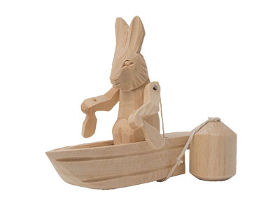 Canoe Bunny Action Toy