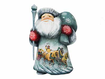 Scenic Troika Father Frost Carving 6""