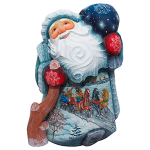 Winter Troika Father Frost Carving