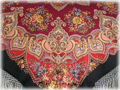 Russian Wool Shawl 4'x4'