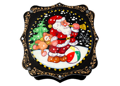 Christmas Lacquer Box - assorted