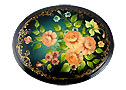 Russian Bouquet Lacquer box by Krikun - Gift For Her