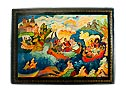 From the Island Lacquer Box - Mstera Russian box Extra Large
