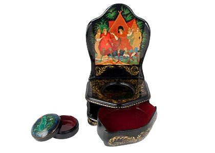 Frog Princess Throne Lacquer Box