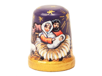Nativity Thimble, Wood 1