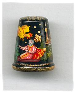 Set of 6 Fairy Tale Thimbles, Wood 1