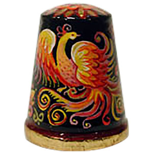 The Fire Bird Fairy Tale Thimble, Wood 1