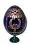 Round Wreaths w/ Stand BLUE Faberge Style Egg Medium  - Easter G