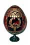 Round Wreaths w/ Stand RED Faberge Style Egg Medium  - Easter Gi
