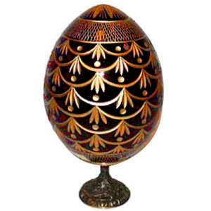 FORGET-ME-NOT RED Crystal Egg Medium w/ Stand