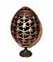 FORGET-ME-NOT RED Faberge Style Egg Medium w/ Stand  - Floral De