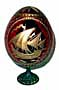 SAIL BOAT RED Faberge Style Egg Medium w/ Stand  - Gift For Him