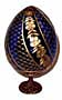 SWIRL BLUE Faberge Style Egg Medium w/ Stand  - Floral Designs