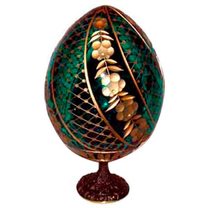 SWIRL GREEN Crystal Egg Light Catcher