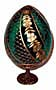 SWIRL GREEN Faberge Style Egg Medium w/ Stand  - Floral Designs