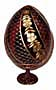 SWIRL RED Faberge Style Egg Medium w/ Stand  - Floral Designs