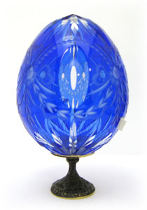 ROMANOV bows w/ lenses BLUE Faberge Style Egg