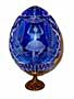SWAN LAKE Blue GRAND DUCHESS Collection Crystal Egg w/ Stand