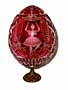 SWAN LAKE  Red GRAND DUCHESS Collection Crystal Egg w/ Stand - M