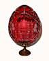 HERMITAGE RED GRAND DUCHESS Collection Crystal Egg w/ Stand - Gi