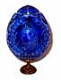 ANASTASIA Blue GRAND DUCHESS Collection Crystal Egg w/ Stand