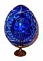 Karl Faberge Blue GRAND DUCHESS Crystal Egg w/ Stand