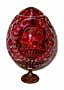 Karl Faberge RED GRAND DUCHESS Crystal Egg w/ Stand - Gift For H