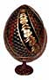Swirl w/ Flowers RED Faberge Style Egg - Floral Designs