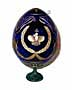 Crown BLUE Faberge Style Egg Large