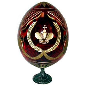 Crown RED Faberge Style Egg Large